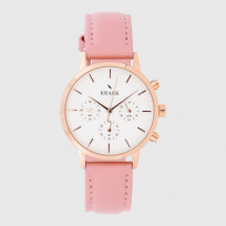KRAEK Anita | Rose Gold | White  Dameshorloge 1