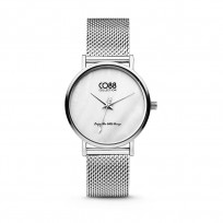 CO88 Collection 8CW-10051 - Horloge - mesh - zilverkleurig - ø 32 mm 1