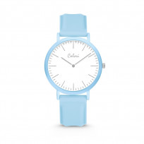 Colori Essentials 5 COL581 Horloge - Siliconen Band - Ø 40 mm - Blauw  1