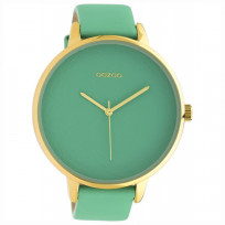OOZOO C10573 Horloge Timepieces Biscay staal/leder Green 48 mm 1