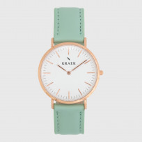 KRAEK Adeline | Rose Gold | Green  Dameshorloge 1