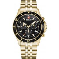 Swiss Military Hanowa 06-5331.02.007 Horloge Flagship Chrono staal goudkleurig 42 mm  1