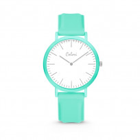 Colori Essentials 5 COL583 Horloge - Siliconen Band - Ø 40 mm - Mint Groen  1