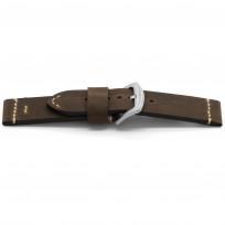 Horlogeband H428 Bison Leder Bruin 22 mm NFC 1