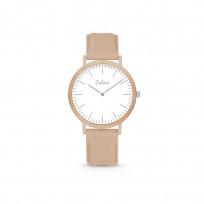 Colori Essentials 5 COL594 Horloge - Siliconen Band - Ø 30 mm - Bruin 1