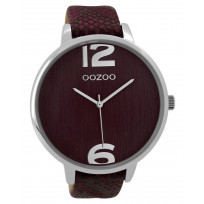 OOZOO Horloge Timepieces Collection donkerrood 48 mm C9241 1