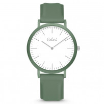 Colori Essentials 5 COL588 Horloge - Siliconen Band - Ø 40 mm - Groen 1