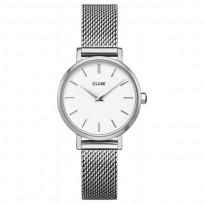 CLUSE CW0101211007 Horloge LA Boheme Petit  Mesh zilverkleurig-wit 28 mm 1