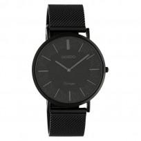 OOZOO C20144 Horloge Vintage Mesh staal zwart 40 mm 1