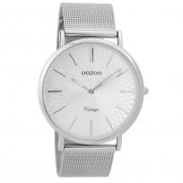 OOZOO Horloge Vintage zilverkleurig mesh 40 mm C9340 1