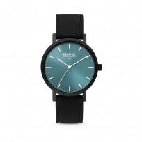Frank 1967 7FW 0001 Horloge staal/leder zwart-blauw 42 mm 1