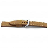 Horlogeband I364 Leren Vintage Licht Bruin 24 mm 1