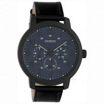 OOZOO C10509 Horloge Timepieces staal/leder black-deepblue 45 mm 1