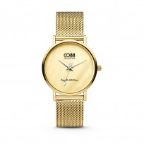 CO88 Collection 8CW-10050 - Horloge - mesh - goudkleurig - ø 32 mm 1