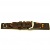 Horlogeband H394 Vintage Cowboy D.bruin 22x22mm 1