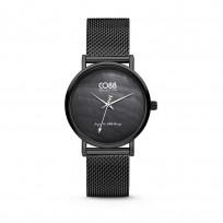 CO88 Collection 8CW-10053 - Horloge - mesh - zwart - ø 32 mm 1