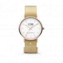 CO88 Horloge staal/nylon 36 mm rosé/zand 8CW-10021 1