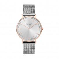 CLUSE CW0101201006 Horloge LA Boheme Mesh rosékleurige kast 38 mm 1