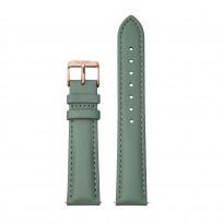 CLUSE CS1408101087 Horlogeband leder groen-rosekleurig 18 mm 1