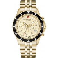 Swiss Military Hanowa 06-5331.02.002 Horloge chronograaf saffierglas  42 mm 1