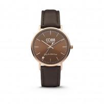 CO88 Horloge staal/leder  36 mm rosé/bruin 8CW-10010  1