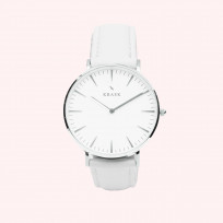 KRAEK Starling | Silver | White 36 mm Dameshorloge 1