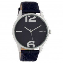 OOZOO C10377 Horloge Timepiece Collection Evening Blue Croco 45 mm 1