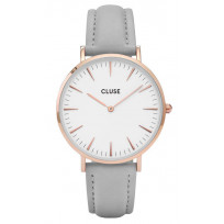 Cluse horloge La Bohéme rosegold-white-grey 38 mm CW0101201007 1