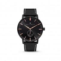Kaliber 7KW-00005 Horloge met lederen band zwart en rosékleurig  40 mm 1