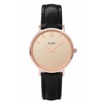 Cluse CL30051 Horloge Minuit Champagne Black Lizzard 33 mm 1