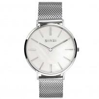Zinzi ZIW417M Horloge Retro zilverkleurig 38 mm  + gratis armband  1