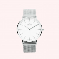 KRAEK Linnet | Silver | Mesh 36 mm Dameshorloge 1