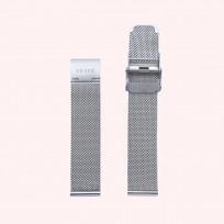 KRAEK Silver Mesh   18 mm 18 mm horlogebandje 1