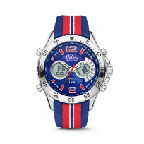 Colori Horloge Holland Sports staal/nylon rood-wit-blauw 48 mm 5-CLD135  1