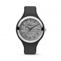 Colori Horloge Macaron siliconen zwart 44 mm 5-COL514 1