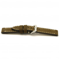 Horlogeband H309 Vintage Nubuck Bruin 22 mm 1
