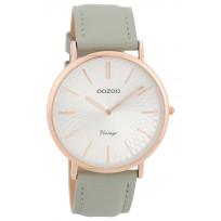 OOZOO C9334 Horloge Vintage rosékleurig-grijs 40 mm  1