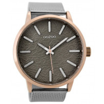 OOZOO C9232 Horloge Timepieces staal zilver-rosé-taupe 48 mm  1