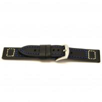 Horlogeband H104 Vintage Cowboy Zwart 22x22mm 1