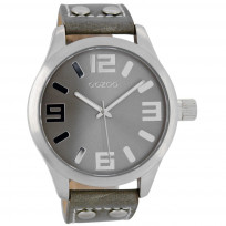 OOZOO Horloge Timepieces Collection 46 mm taupe  C1057 1