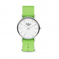 Colori XOXO 5 COL549 Horloge geschenkset met Armband - Nato Band - Ø 36 mm - Groen / Zilverkleurig  1