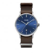 Cluse CW0101501008 Herenhorloge Aravis blauw/bruin 40 mm 1