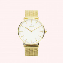 KRAEK Jae | Gold | Mesh 36 mm Dameshorloge 1