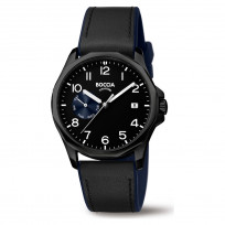 Boccia 3644-03 Horloge Titanium-Leder zwart 40 mm 1