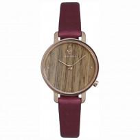 Kerbholz 4251240411675 Horloge Hout/Leder Emma Walnut-Berry 30 mm 1