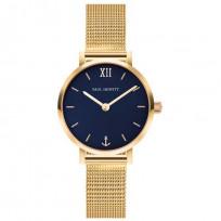 Paul Hewitt PH-SA-G-XS-B-45S Horloge Sailor Line Modest Blue Lagoon goudkleurig-blauw 28 mm 1