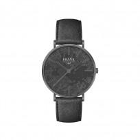 Frank 1967 7FW 0020 Horloge staal/leder grijs 42 mm 1