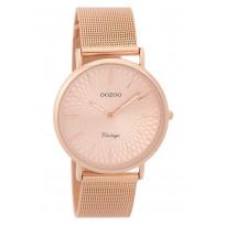 OOZOO Horloge Vintage rosékleurig mesh 36 mm C9344 1