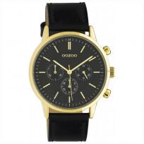 OOZOO C10598 Horloge Timepieces staal/leder black 40 mm 1