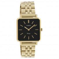 OOZOO C9957 Horloge Vintage staal goudkleurig-zwart 29 x 29 mm 1